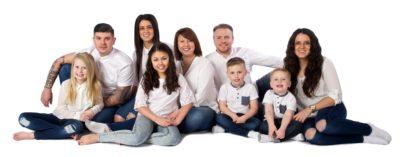 Large family photographic portrait Colchester
